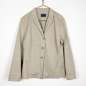 Oska Oversized Khaki Lagenlook Blazer Jacket 2